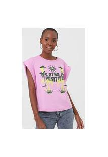 Camiseta Forum Stay Positive Rosa