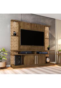 Estante Para Home Theater E Tv 60 Polegadas York Madeira Rústica E Madeira 3D
