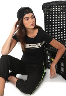 Camiseta Cropped Dc Shoes Eco Preta