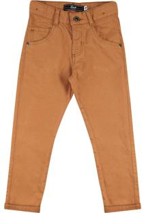 Calça Look Jeans Skinny Collor Caramelo