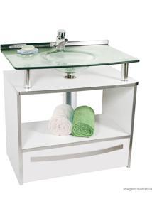 Gabinete Cris Mold Com Cuba No Tampo 997 Branco - 70X46X70Cm - Cris Metal