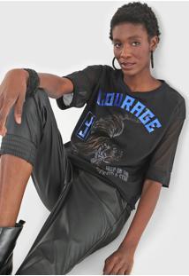 Camiseta John John Courage Tiger Preta - Preto - Feminino - Poliã©Ster - Dafiti