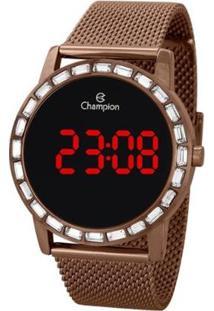 Relógio Champion Digital Ch40160R Feminino - Feminino-Marrom