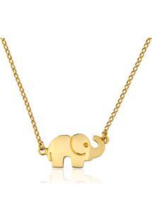 Colar Toque De Joia Elefantinho Dourado - Kanui