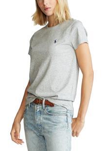 Camiseta Polo Ralph Lauren Lisa Cinza - Kanui
