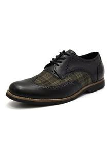 Sapato Social Shoes Grand Chess Preto Tamanho Espcial