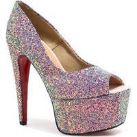 68d730b2b Peep Toe Glitter feminino   Shoes4you