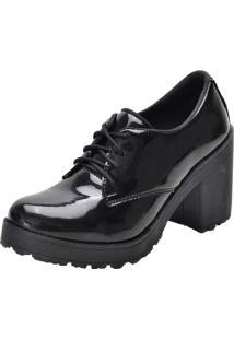 92d4b5733 Sapato Oxford Mel Comfort Tratorado Verniz Preto
