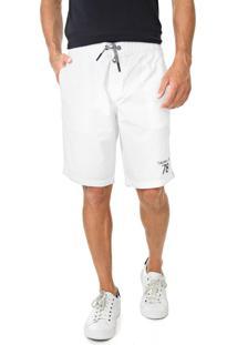 Bermuda Calvin Klein Jeans Reta Amarração Branca