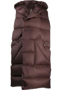 Rick Owens Sleeveless Puffer Jacket - Marrom