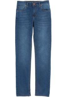 Calça Jeans Infantil Reta Vintage Destroyer Masculino - Masculino-Azul