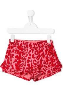 Molo Kids Short Com Estampa De Leopardo - Rosa