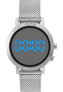 Relógio Euro Digital Fashion Fit Feminino - Feminino-Prata