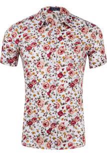 Camisa Estampada Masculina - Floral Xgg