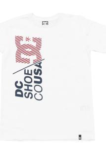 Camiseta Dc Shoes Menino Frontal Branca