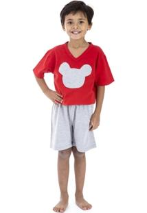 Pijama Curto Infantil Inspirate Red - Masculino