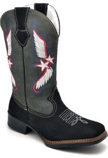 Bota Top Franca Shoes Country Masculino - Masculino-Cinza