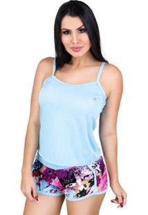 Pijama Mvb Modas - Feminino-Azul