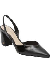 3fa63e246 Sapato Chanel Em Couro Com Recortes- Preto- Salto: 7Capodarte