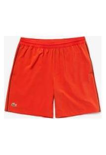 Bermuda Lacoste Sport Regular Fit Masculina - Masculino-Vermelho+Preto