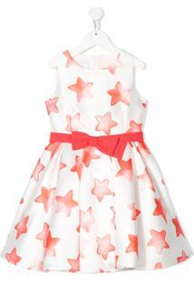 Colorichiari Vestido Com Estampa De Estrela - Branco