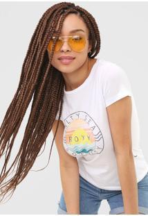 Camiseta Roxy Salty Sea Branca - Branco - Feminino - Dafiti