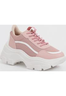 Tênis Feminino Chunky Sneaker Recorte Tela Zatz