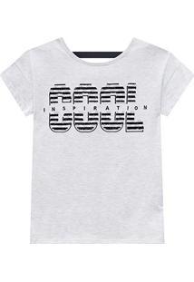 Blusa Infantil Amora Com Paetê Reversível - Feminino-Off White