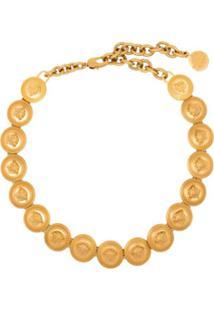 Versace Medusa Logo Choker - Dourado