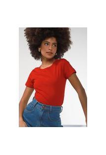 Camiseta Hering Lisa Vermelha