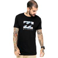 Camiseta Billabong Camiseta Billabong Floral Wave Floral Wave Preta 966d57bf682