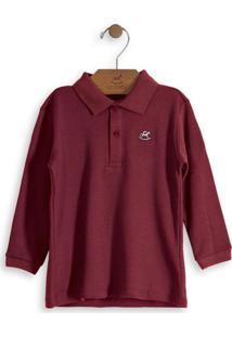 Camisa Polo Infantil Vermelho