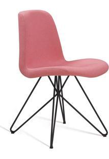 Cadeira De Jantar Eames Butterfly Preto E Coral