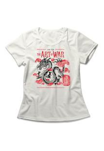 Camiseta Feminina A Arte Da Guerra Off-White