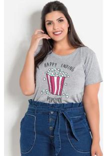 Blusa Com Pompons Mescla Plus Size