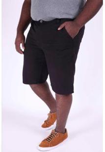 Bermuda Kauê Plus Size Color Masculina - Masculino-Preto