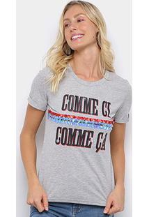 Camiseta Eagle Rock Comme Ci Paetês Feminina - Feminino