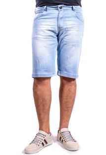 Bermuda Sarja Short Jeans Claro Mania Do Jeans
