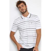Camisa Polo Forum Piquet Listras Masculina - Masculino-Branco 52b146471baf2