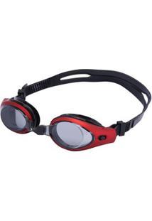 Óculos De Natação Oxer Zeus - Adulto - Vermelho/Preto