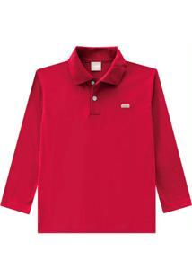 Camisa Polo Infantil Vermelho Masculina