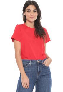 Camiseta Banana Republic Supima Cotton Crew-Neck Vermelha