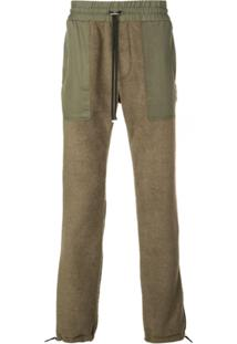 Amiri Drawstring Waist Straight Trousers - Verde