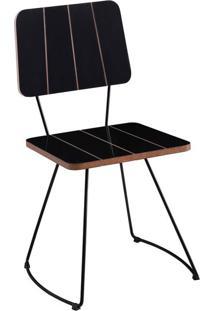 Cadeira Costela Meia Lua Preto