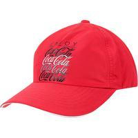 Boné Aba Curva Coca-Cola Masculino - Masculino-Vermelho+Preto a4b9ee60d76