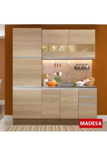 Cozinha Compacta 7 Portas 3 Gavetas Flora Rustic/Saara - Madesa