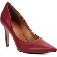 8b43ceaa86 Scarpin Couro Shoestock Salto Alto Bico Fino - Feminino-Vermelho