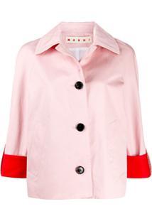 Marni Jaqueta Color Block - Rosa