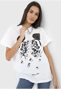 Camiseta Colcci Mickey Off-White - Kanui
