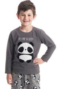 Pijama Panda Masculino Infantil